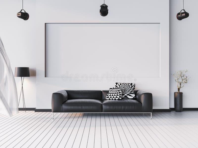 Zombe acima do fundo interior, estilo moderno, 3D rendem, o illustr 3D ilustração stock