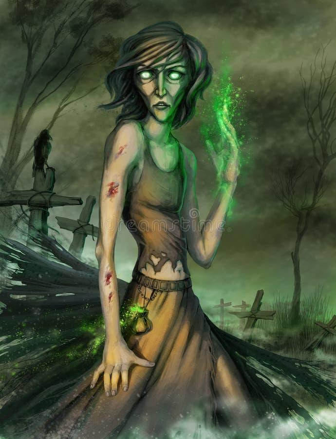 zombi ilustração royalty free
