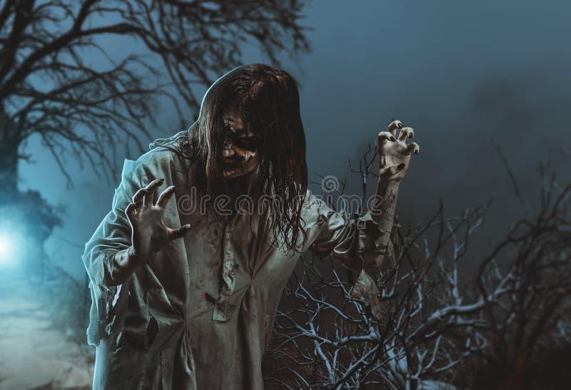 Zombi assustador Halloween fotografia de stock