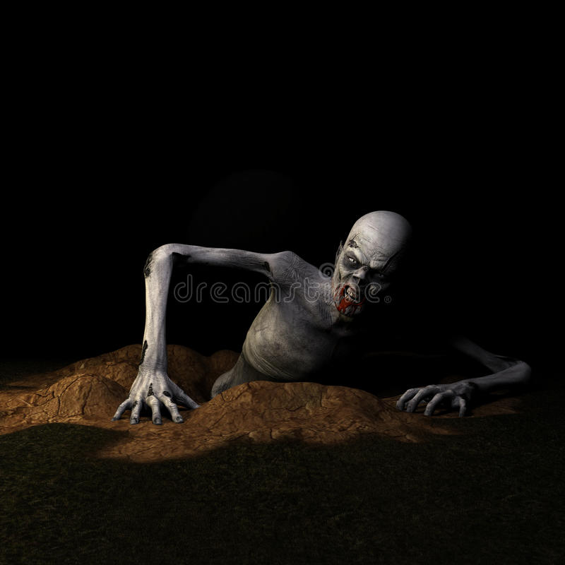 Zombi - aumentando da sepultura fotografia de stock royalty free