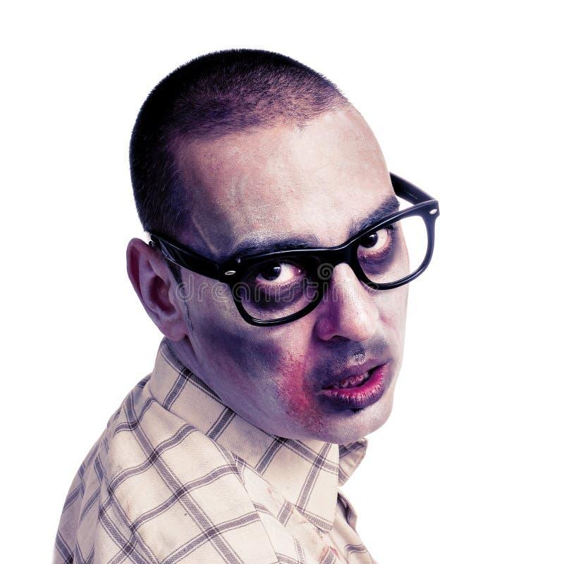 Download Zombi Avec Les Lunettes Plastique-bordées Par Noir Photo stock - Image du lunettes, isolement: 45354340
