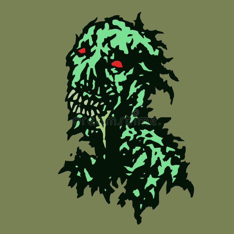 Zombi dépouillé avec la salive découlant de sa bouche Illustration de vecteur illustration libre de droits