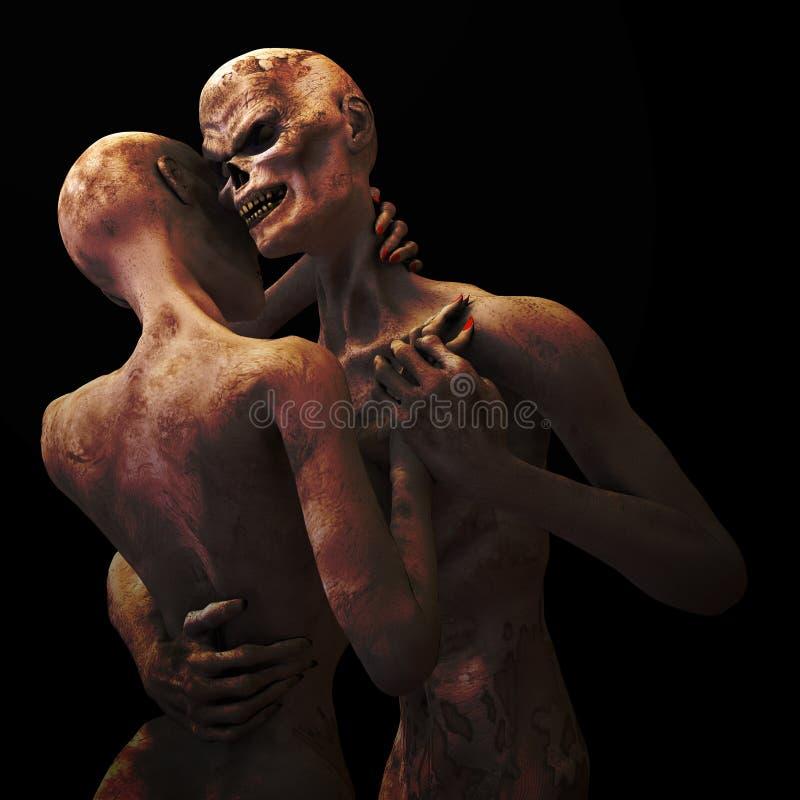 Zombi dans l'amour illustration libre de droits