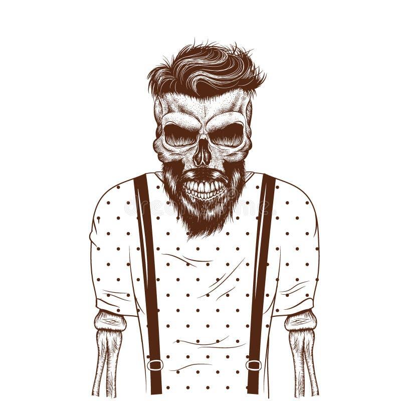 Zombi de la moda vestido en camiseta libre illustration