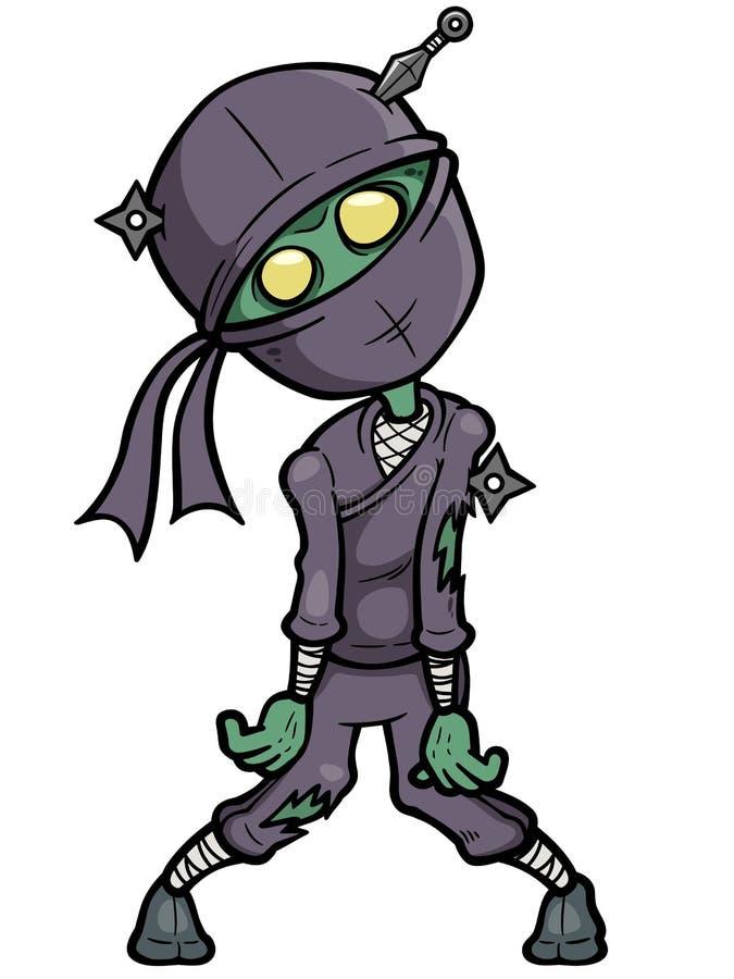 Zombi de Ninja dos desenhos animados