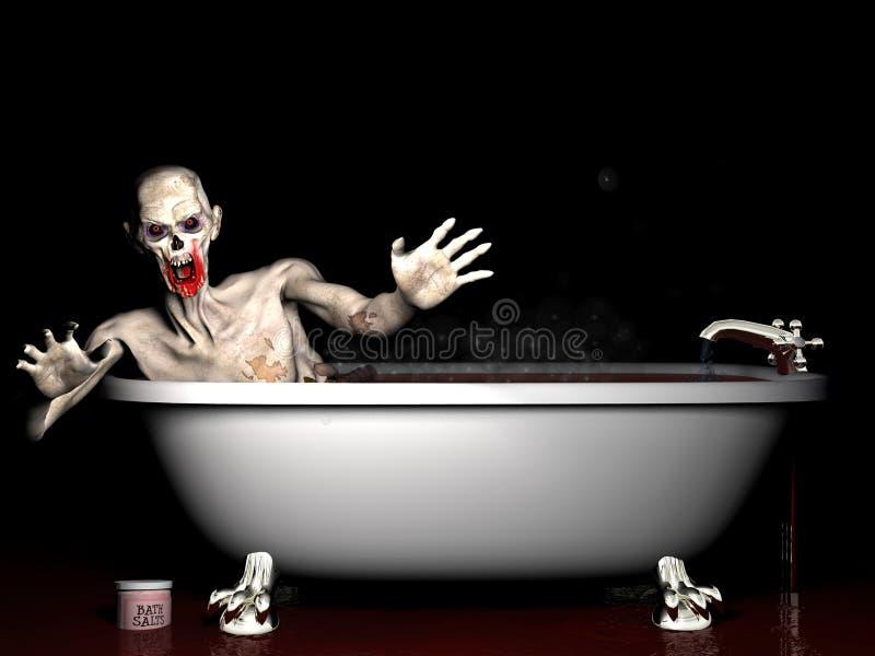 Zombi de sal de banho imagem de stock