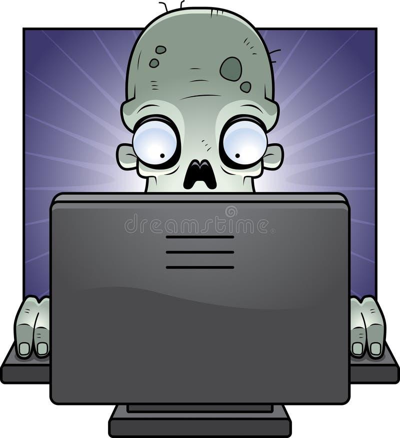 Zombi do computador ilustração stock