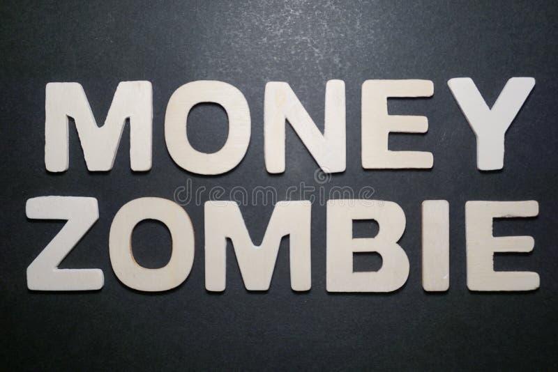 Zombi do dinheiro foto de stock