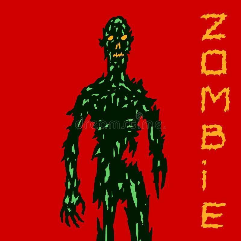 Zombi effrayant venant pour vous Illustration de vecteur illustration stock