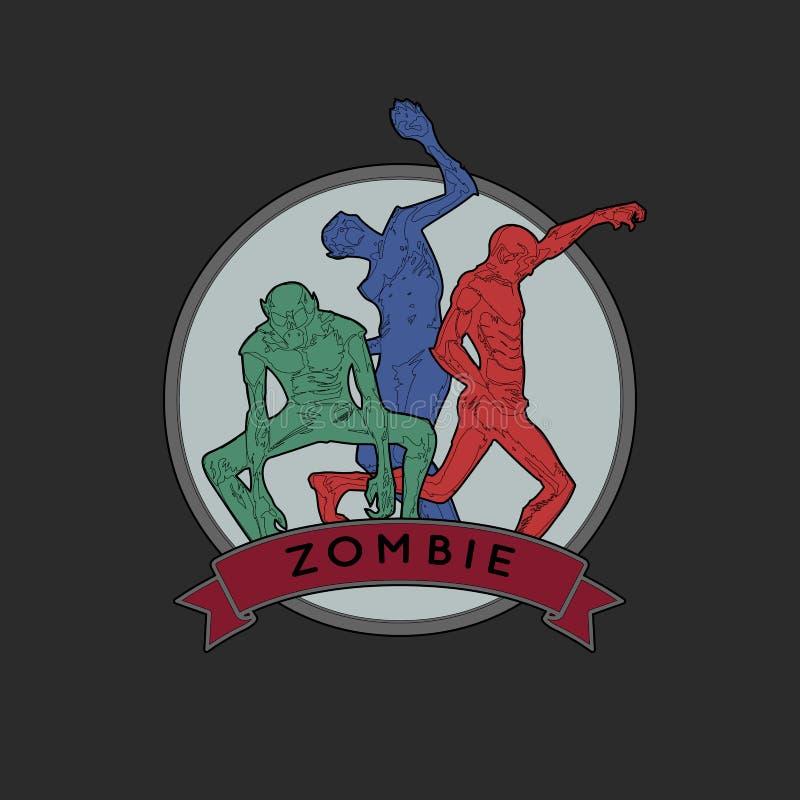 Zombi Emblema de Halloween libre illustration