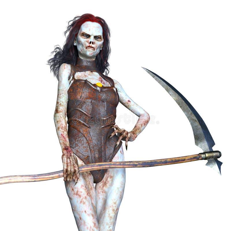 Zombi féminin illustration de vecteur