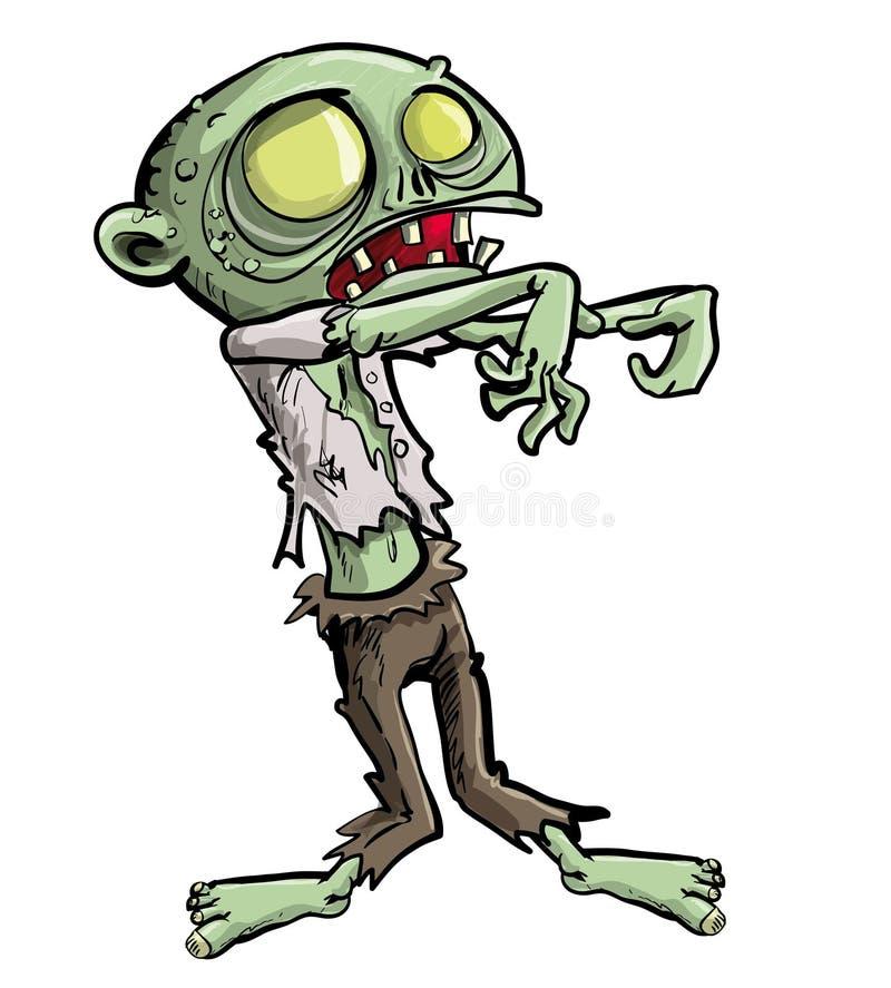 Zombi Ghoulish ilustração stock