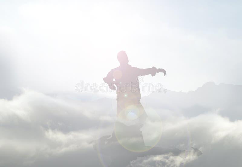 Zombi na névoa ilustração stock