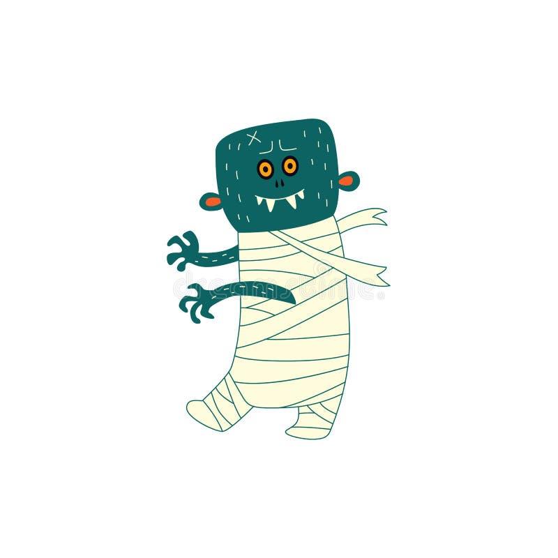 Zombi que camina plano de Halloween del vector libre illustration