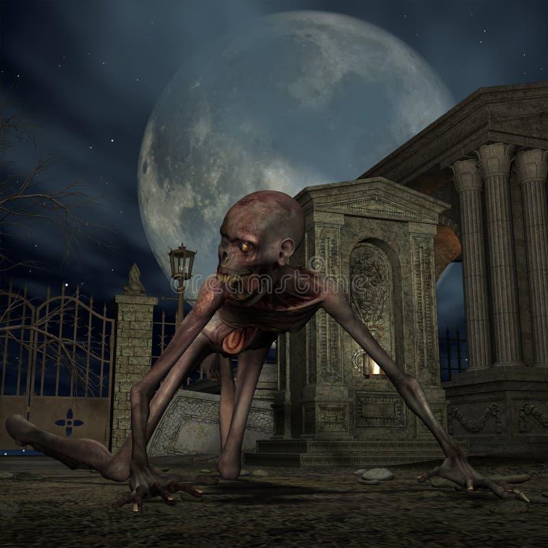 Zombi - scène de Veille de la toussaint illustration de vecteur
