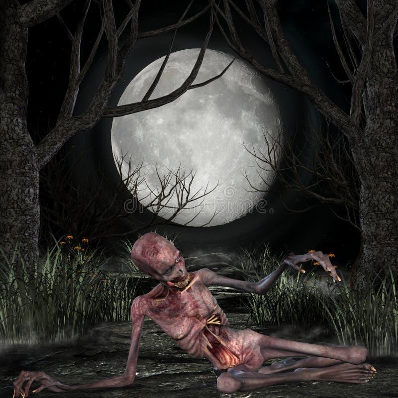 Zombi - scène de Veille de la toussaint illustration libre de droits