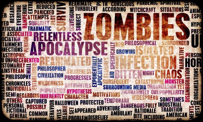Zombieën stock illustratie
