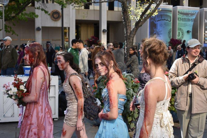 Zombieën die aan Prom leiden royalty-vrije stock afbeelding