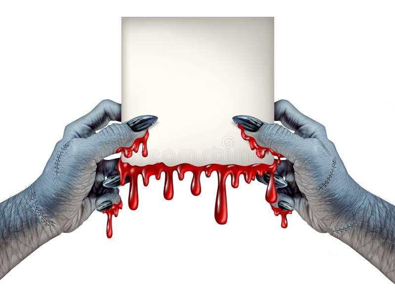 Zombie übergibt Zeichen lizenzfreie abbildung