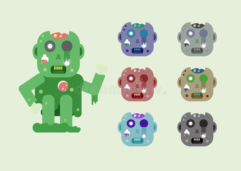 Zombie για την ημέρα αποκριών απεικόνιση αποθεμάτων