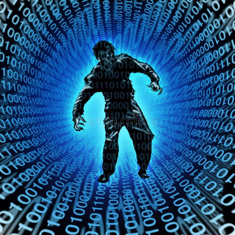 Zombie της τεχνολογίας ελεύθερη απεικόνιση δικαιώματος