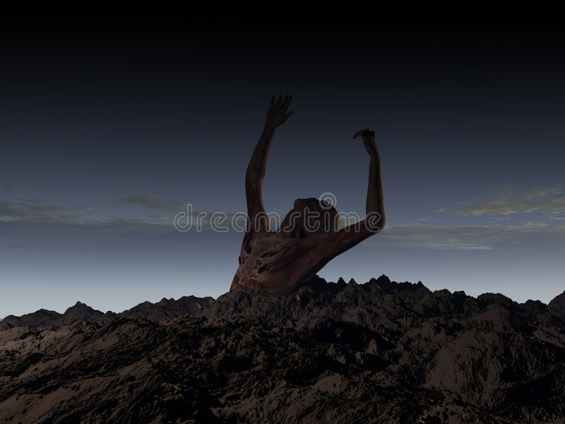 Download Zombie 100 stock illustration. Image of cloud, hand, colorful - 1418406