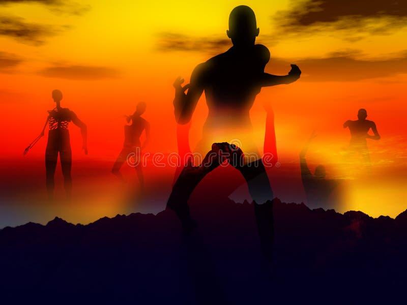 Zombie 107 royaltyfri illustrationer