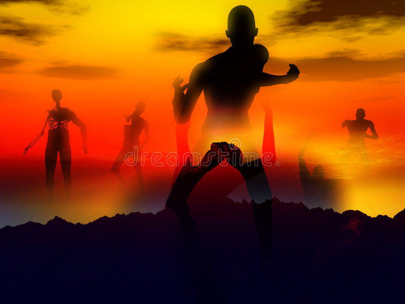 Zombie 107 ελεύθερη απεικόνιση δικαιώματος