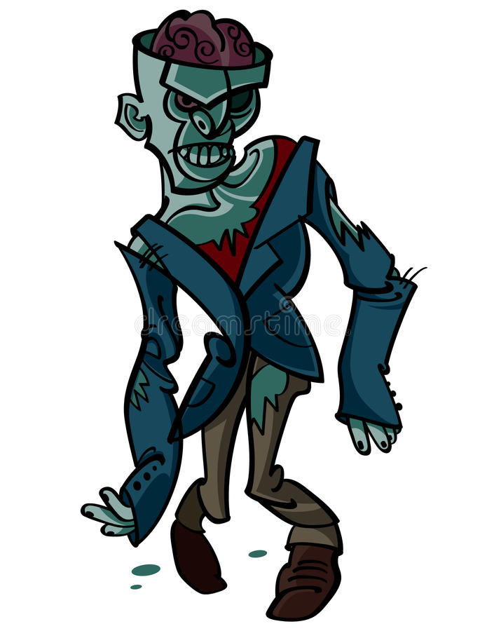 zombie royaltyfri illustrationer
