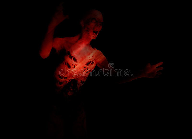 Zombie 126 royalty free stock image