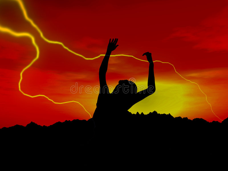 Download Zombie 18 stock illustration. Image of colour, dusk, horror - 1398628