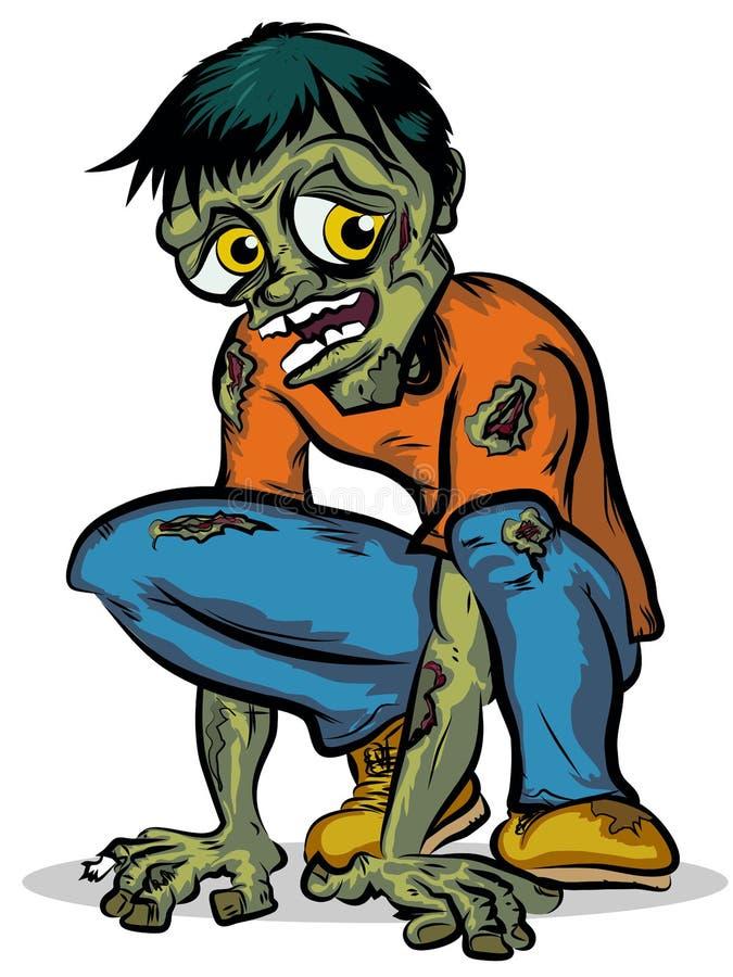 Zombie vektor illustrationer