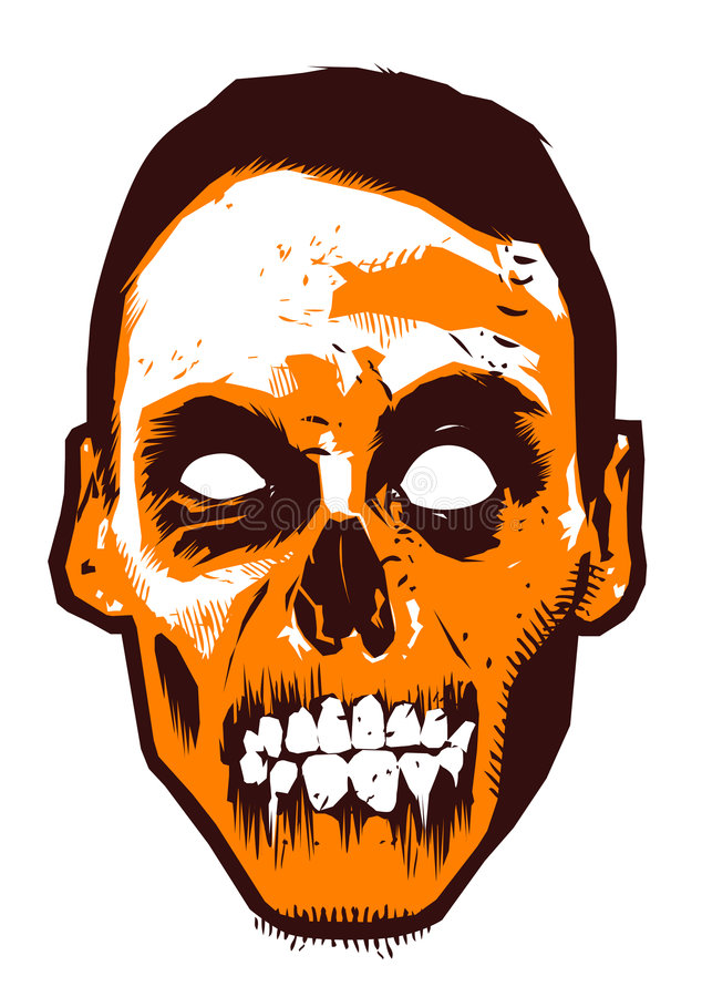 Zombie. The face of zombie with retro tone color mode