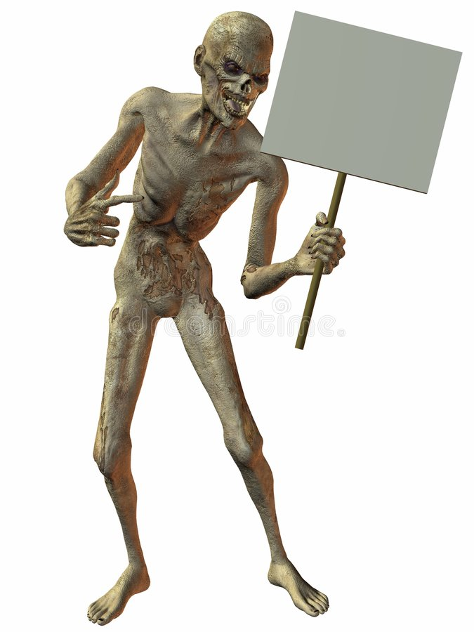 Download Zombie stock illustration. Image of frightening, halloween - 4671954