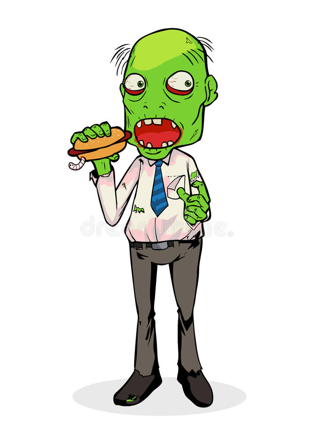 zombie royaltyfri illustrationer