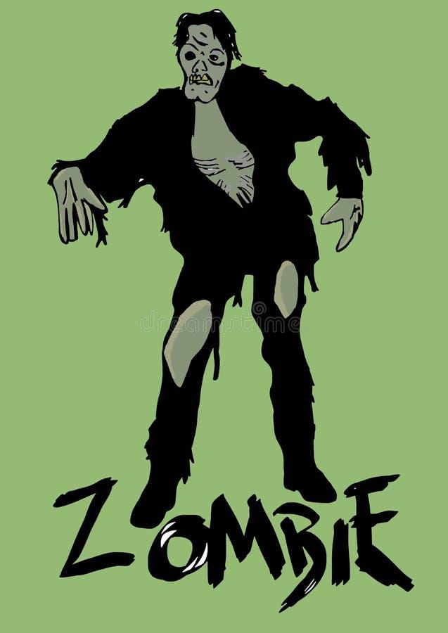 zombie royalty-vrije illustratie