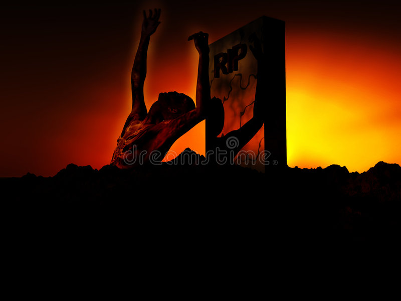 Download Zombie 90 stock illustration. Image of death, colour, figurative - 1418314