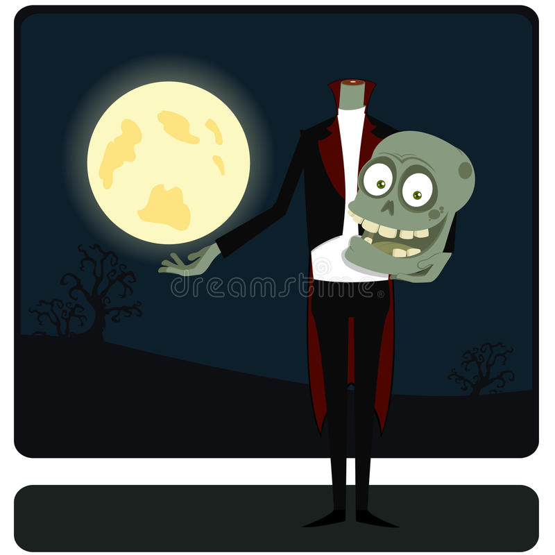 Download The Zombie Against The Moon Stock Vector - Image: 16006775