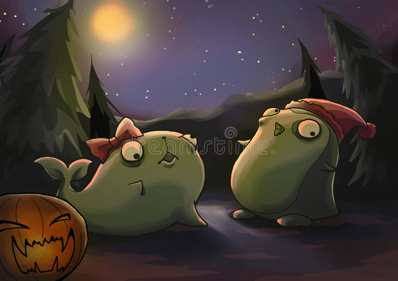 Download Halloween zombie animal stock illustration. Image of drawing - 27642811