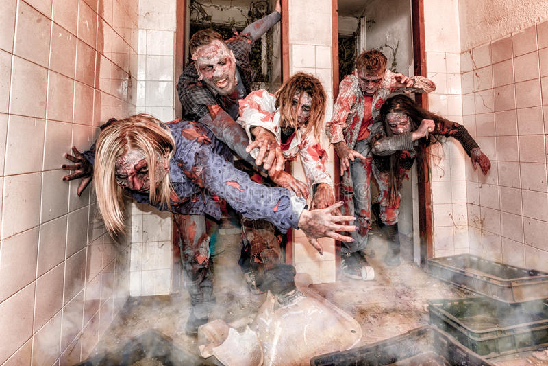 Zombie attack stock photos
