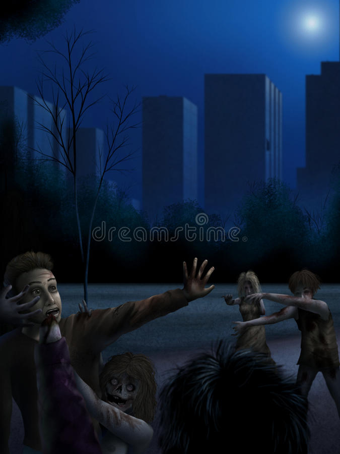 Download Zombie Attack - Digital Painting Royalty Free Stock Images - Image: 22223329