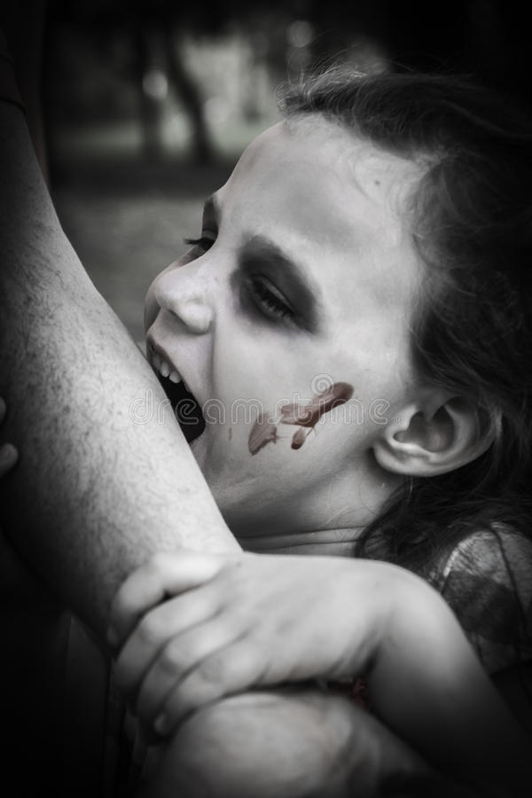 Zombie Attack - Meeting Her Prey stock images
