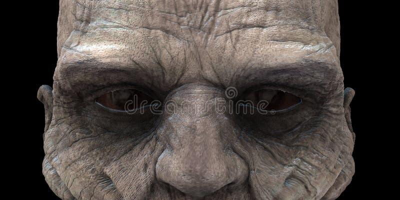 Zombie-Augen lizenzfreies stockbild