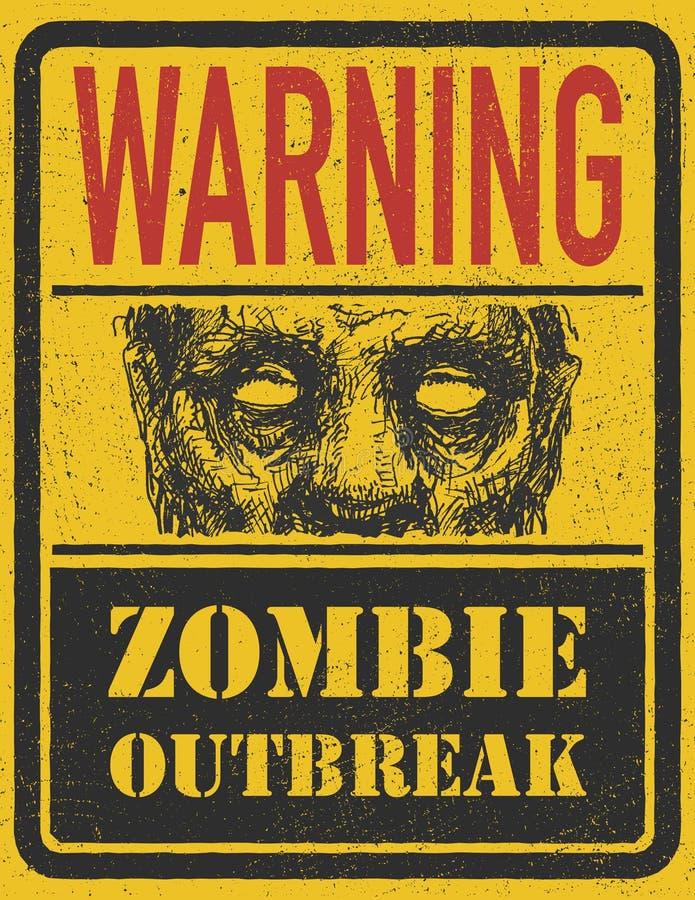 Zombie-Ausbruch. Hand gezeichnet. Vektor Eps8 stock abbildung