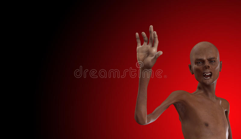 Zombie With Bad Teeth Royalty Free Stock Images