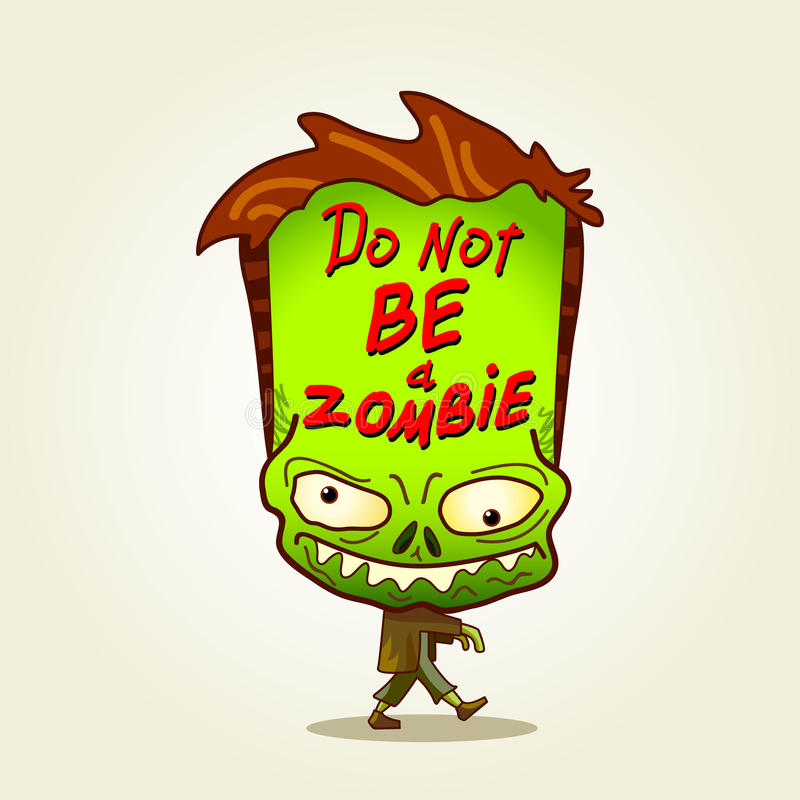 Zombie. Ben geen zombie. royalty-vrije illustratie