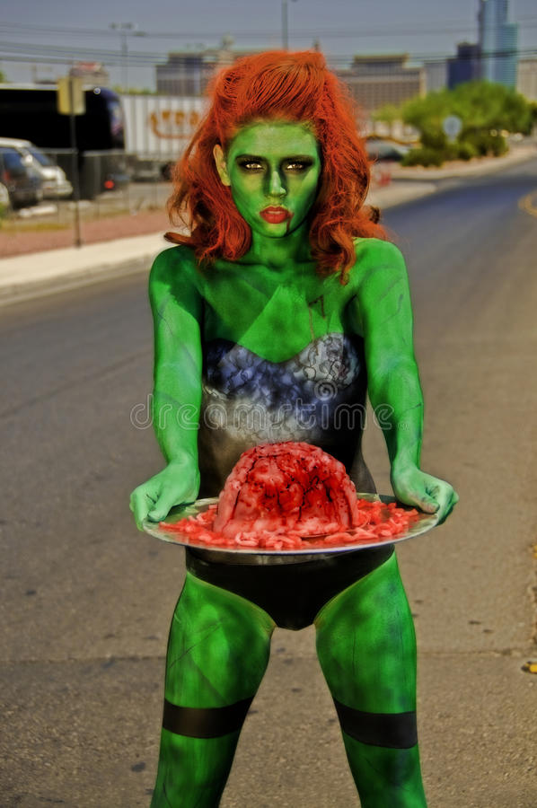 Zombie With Brain on A Silver Plater