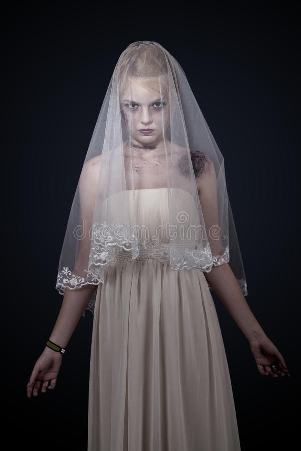 Zombie bride royalty free stock images