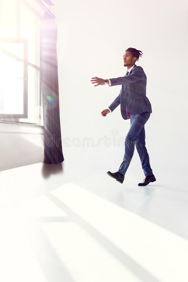 Zombie in a business stock photos