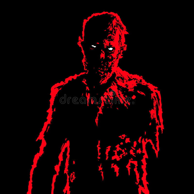 Zombie businessman in black and white colors. Vector illustration. vector illustration
